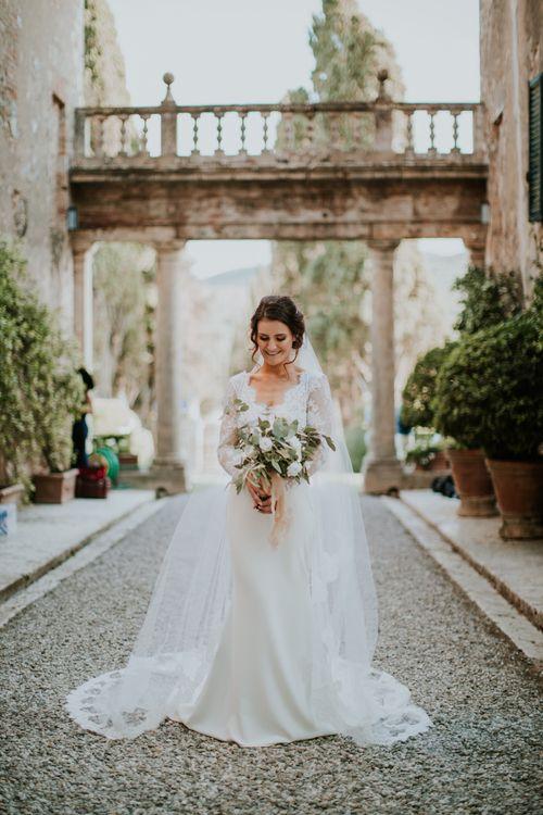 Bride in Morgan Davies Gown   D&A Photography   Ben Walton Films