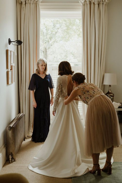 Emma Beaumont Bespoke Bride For A Stylish Intimate Town House Wedding In Cheltenham With Images From The Curries & Florals Ruby And The Wolf