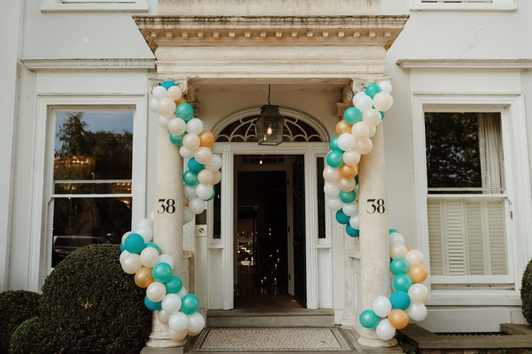 Balloon Details For Town House Wedding Cheltenham Image By The Curries