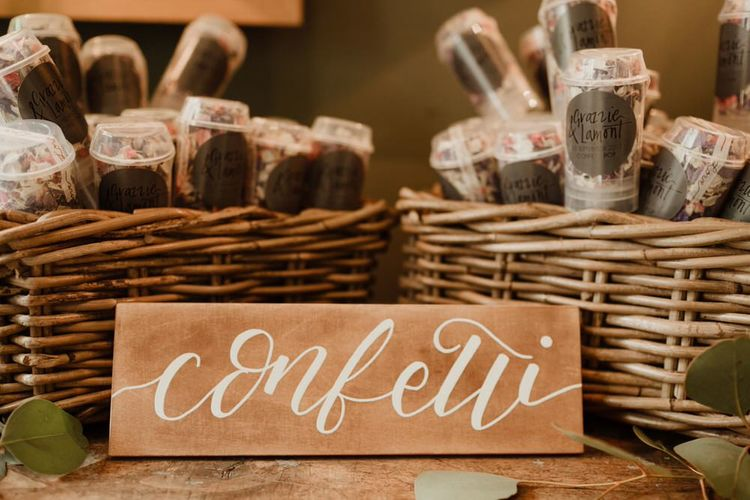 Branded Confetti Box For Wedding By The Golden Letter