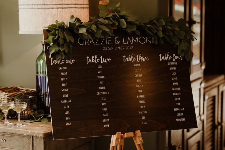Elegant Table Plan For Wedding Image By The Curries