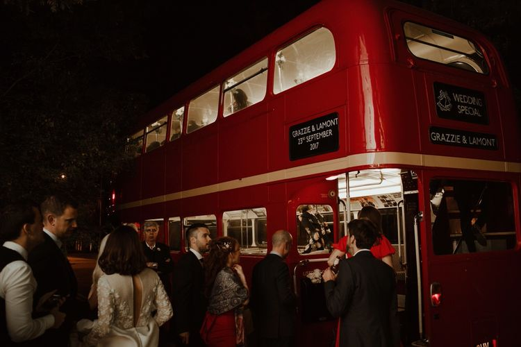 Red Double Decker London Bus For Wedding Image By The Curries