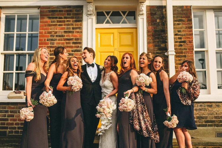 Alternative Wedding Group Shots // Image By Miki Photography