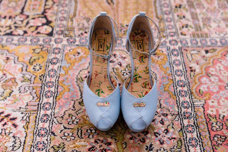 Missl Fire Blue Bridal Shoes