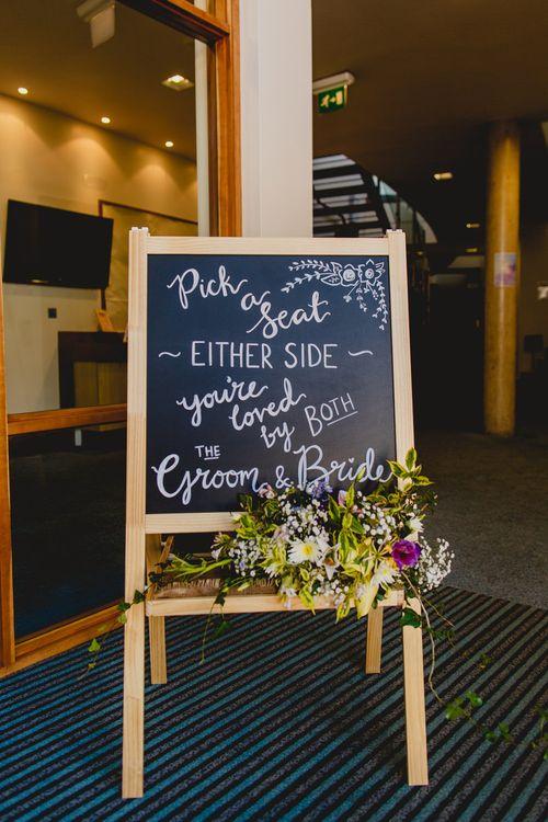Chalkboard Wedding Sign   Navyblur Photography   Cinematic Tide Films