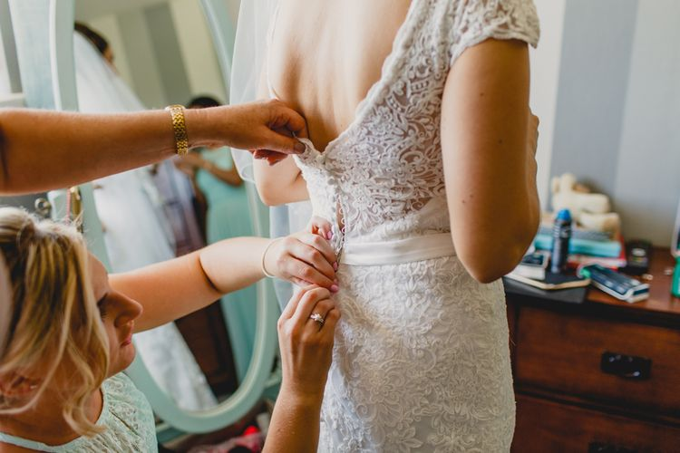 Getting Ready   Lace Wedding Dress   Navyblur Photography   Cinematic Tide Films