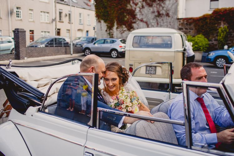 Bride & Father of the Bride in the Wedding Car   Navyblur Photography   Cinematic Tide Films