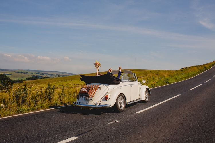 Convertible Beetle Wedding CAr   Navyblur Photography   Cinematic Tide Films