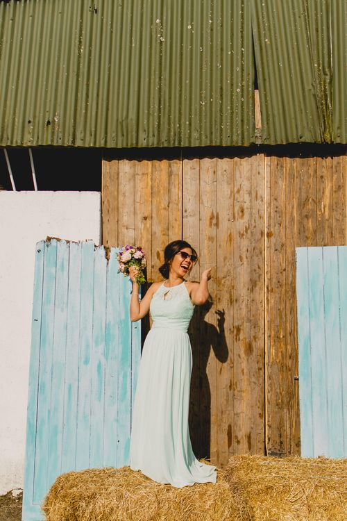 Bridesmaid in Mint Green Dress   Navyblur Photography   Cinematic Tide Films