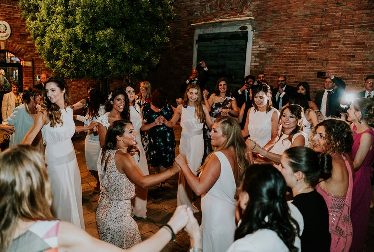 Greek Dancing | Super Luxe Greek Wedding at The Cipriani in Venice | Bridgwood Wedding Photography
