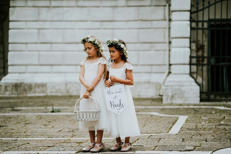Flower Girls | Super Luxe Greek Wedding at The Cipriani in Venice | Bridgwood Wedding Photography