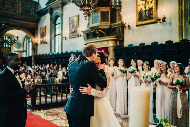 Greek Orthodox Wedding Ceremony | Super Luxe Greek Wedding at The Cipriani in Venice | Bridgwood Wedding Photography