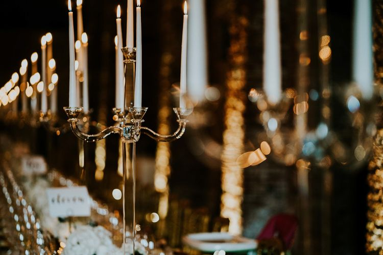 Candle Light | Super Luxe Greek Wedding at The Cipriani in Venice | Bridgwood Wedding Photography