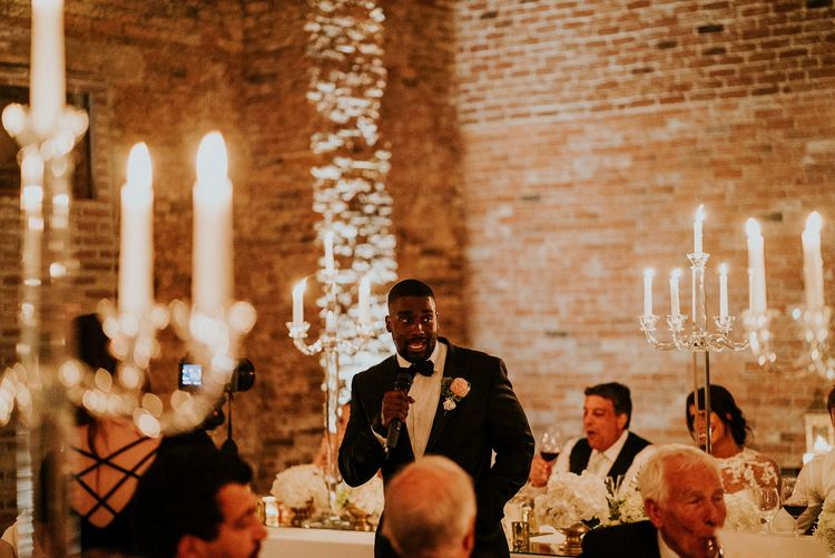 Speeches | Super Luxe Greek Wedding at The Cipriani in Venice | Bridgwood Wedding Photography