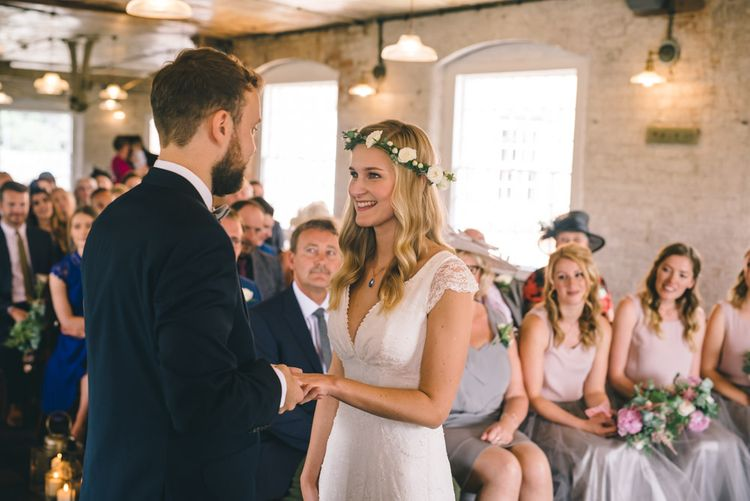 Wedding Ceremony at The West Mill in Derbyshire by Matt Brown Photography