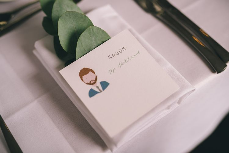 Hand Illustrated Place Setting by Yellowstone Paper Works | Photography by Matt Brown Photography