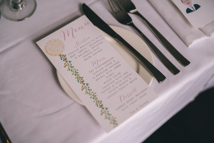 Menu Card Wedding Stationery by Yellowstone Paper Works | Photography by Matt Brown Photography