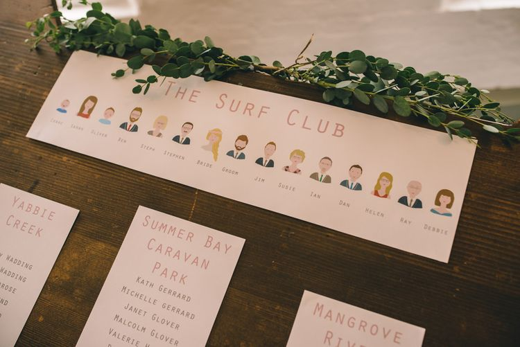 Table Plan Wedding Stationery by Yellowstone Paper Works | Photography by Matt Brown Photography