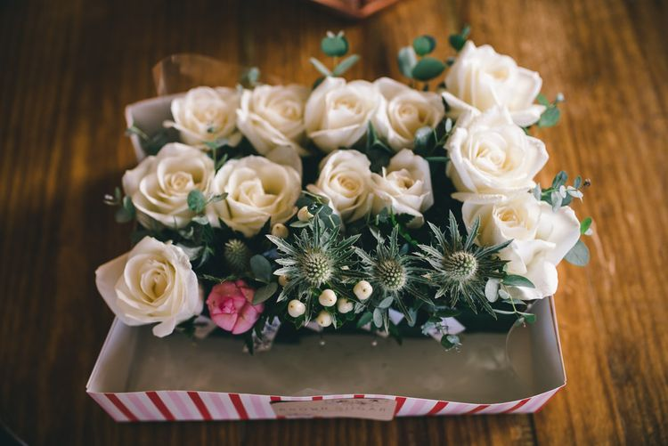 White Rose Buttonholes by Matt Brown Photography