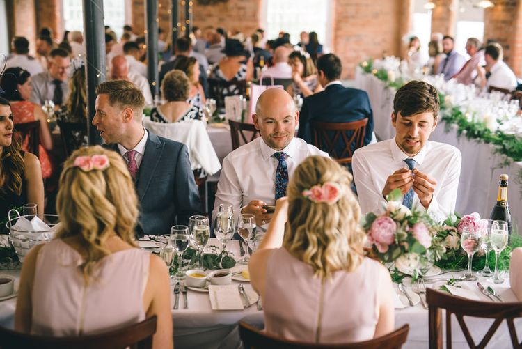 Wedding Reception at The West Mill Derbyshire by Matt Brown Photography