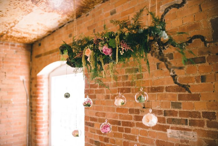 Altar Floral Hanging Display by Matt Brown Photography