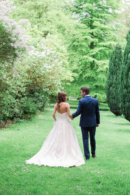 Bride in Sarah Bussey from Ivory & Co. Gown | Elegant Blush Pink & White Wedding at Aynhoe Park in Oxfordshire | Lucy Davenport Photography
