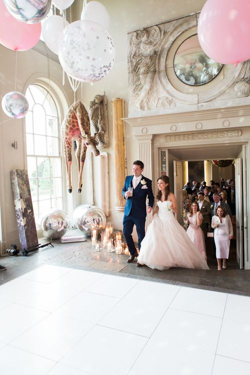 Wedding Reception | Elegant Blush Pink & White Wedding at Aynhoe Park in Oxfordshire | Lucy Davenport Photography