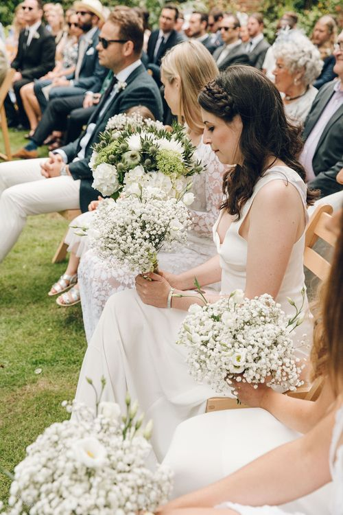 Bridesmaids in White by Harriet Holling Bridal