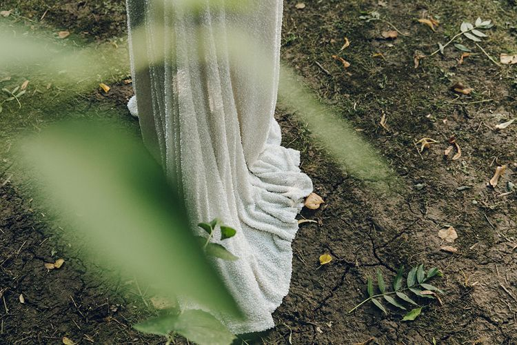 Sequinned Bridal Gown by Harriet Holling