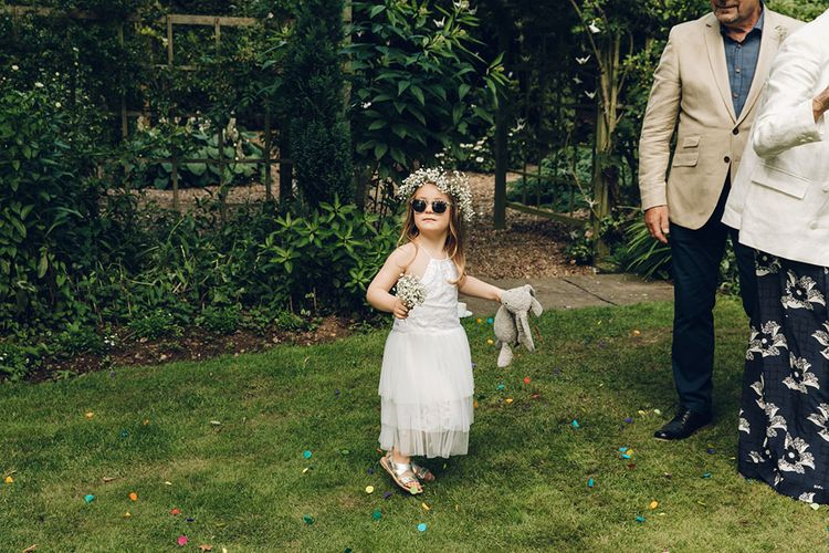 Flower Girl With Jellycat Bunny