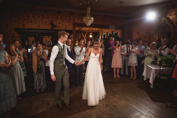 Greenery Filled Wedding At The Bell Ticehurst With Bride In Willowby By Watters Gown & Groom In Green Checked Suit With Images From Jackson & Co Photography