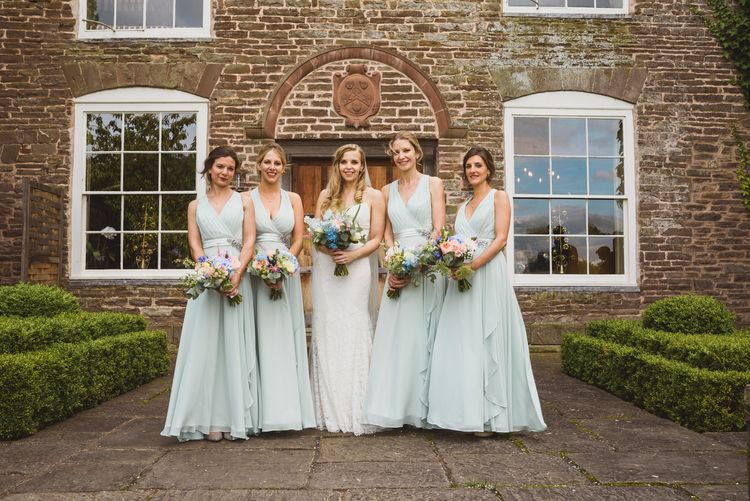 Wedding Party In Mint Green