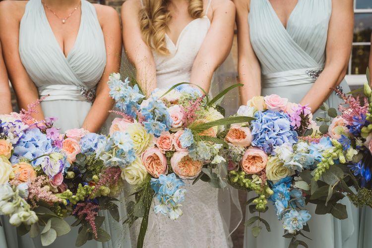 Pastel Bouquets For Bridesmaids