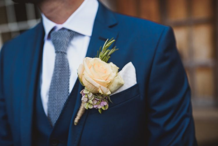 Rose Buttonhole For Groom