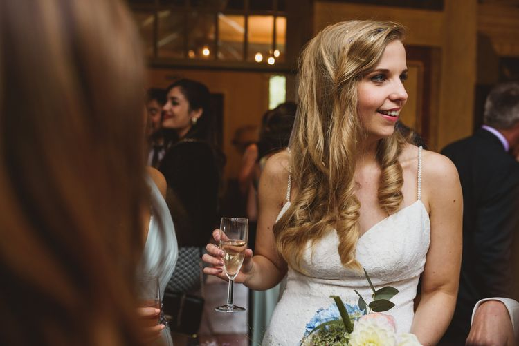 Bride With Gorgeous Long Curls In Her Hair