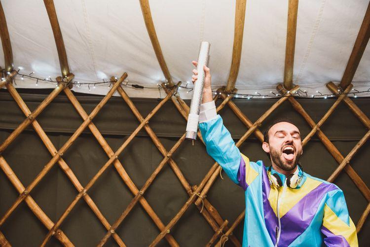 Groom DJing in Disguise