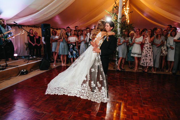 Bride in Rime Arodaky Dress