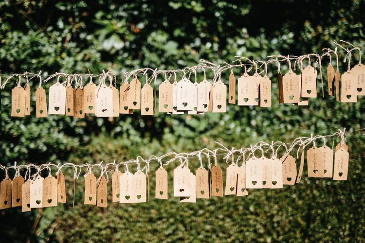 Table Plan With Luggage Tags