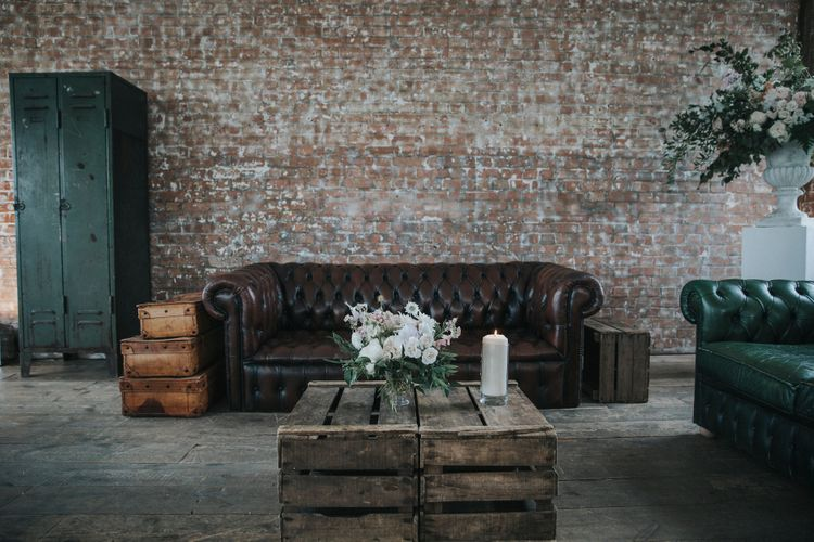 Seating Area Industrial Wedding In London