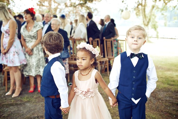 Adorable Flower Girl & Page Boys At Weddings