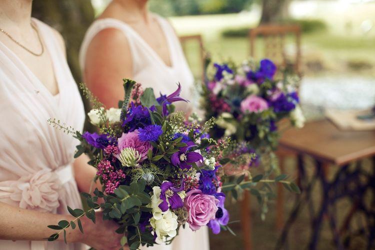 Purple Toned Wedding Bouquets