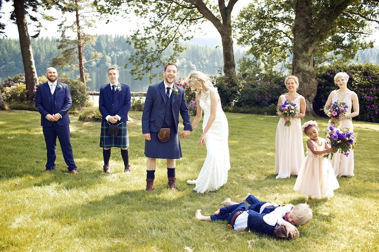 Wedding Party For An Outdoor Humanist Wedding Ceremony In Scotland