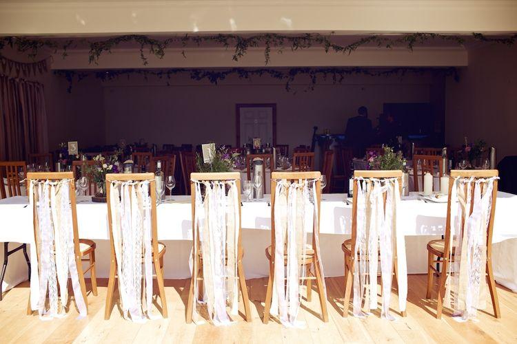 Ribbon Decor For Wedding Reception