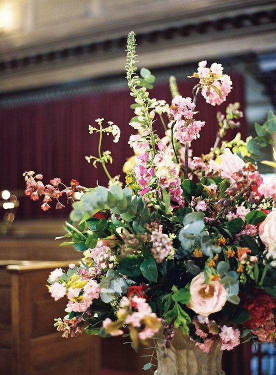Floral Arrangement   St Alfege Church Wedding Ceremony   Classic Wedding at Trafalgar Tavern, Greenwich, London   Ann-Kathrin Koch Photography