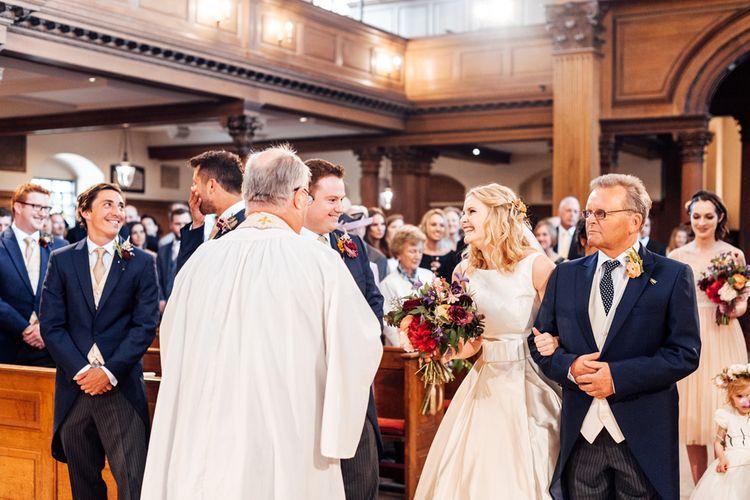 Church Wedding Ceremony   Bride in Sassi Holford Gown   Groom in Neal & Palmer Navy Suit   Classic Wedding at Trafalgar Tavern, Greenwich, London   Ann-Kathrin Koch Photography