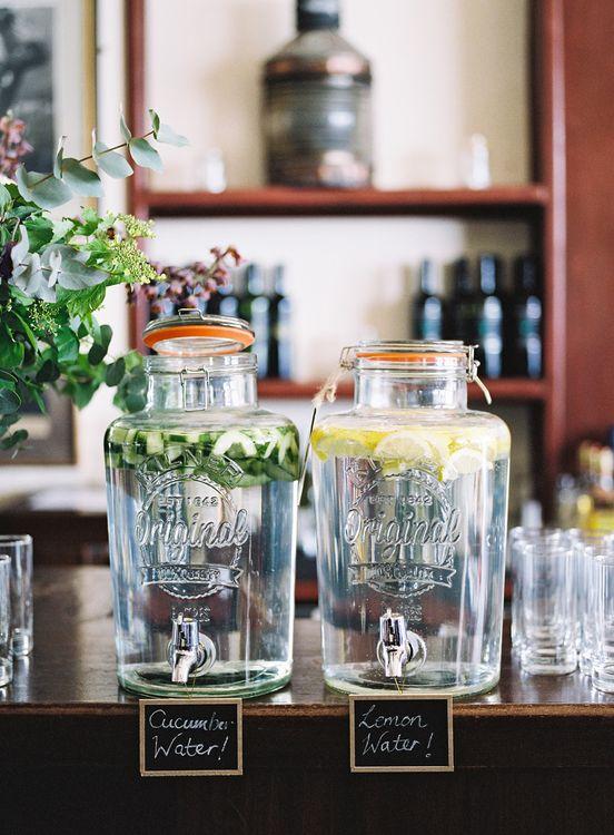 Drinks Dispensers   Classic Wedding at Trafalgar Tavern, Greenwich, London   Ann-Kathrin Koch Photography
