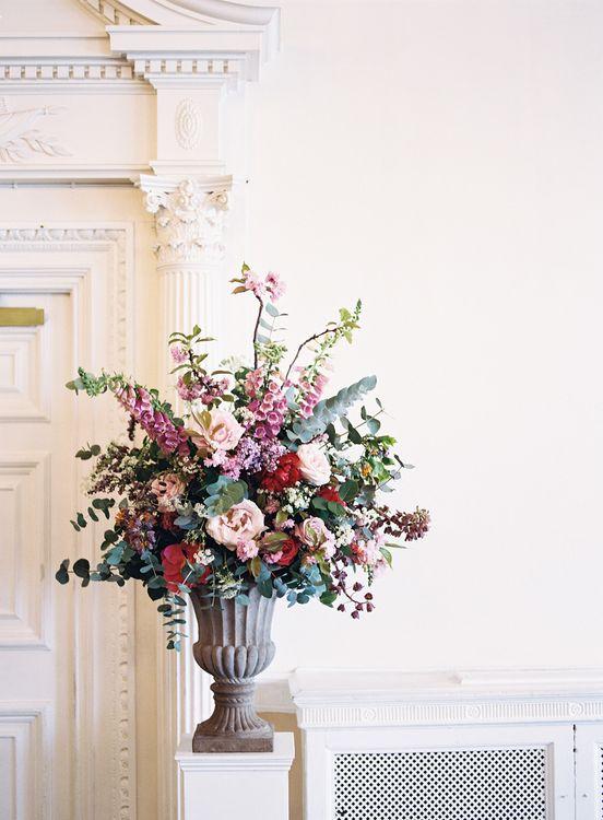 Floral Arrangement   Classic Wedding at Trafalgar Tavern, Greenwich, London   Ann-Kathrin Koch Photography