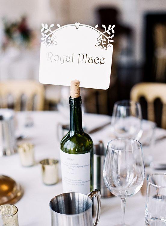 Laser Cut Table Name Wedding Stationery   Classic Wedding at Trafalgar Tavern, Greenwich, London   Ann-Kathrin Koch Photography