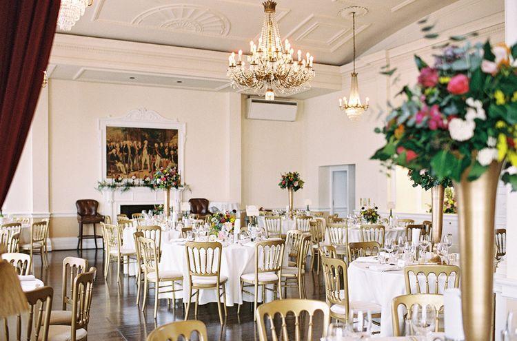 Reception Wedding Decor   Classic Wedding at Trafalgar Tavern, Greenwich, London   Ann-Kathrin Koch Photography