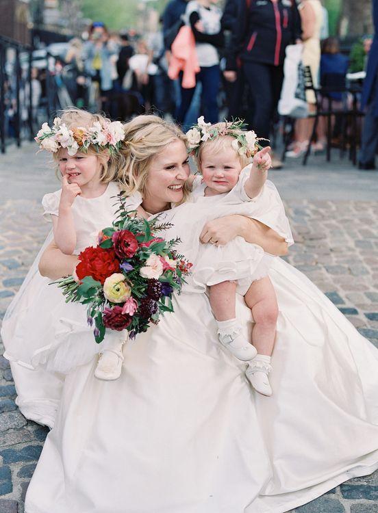 Bride in Sassi Holford Gown   Flower Girls   Classic Wedding at Trafalgar Tavern, Greenwich, London   Ann-Kathrin Koch Photography